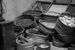 Bahrain hantverk och kryddor royaltyfria foton