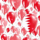 Bahrain Independence Day Seamless Pattern. Stock Images