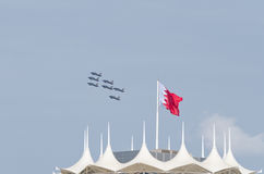 Bahrain international air show 2012. Second bahrain interanational air show  present fastest and advanced aircraft performing stunts and manoeuvrability Royalty Free Stock Photos