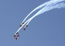 Bahrain International Airshow 2012,R J falcons Stock Image