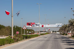 Bahrain International Circuit Entrance Stock Image