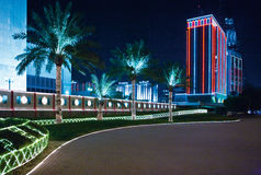 Bahrain. Manama, night view of the Diplomatic area Royalty Free Stock Image