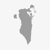 Bahrain map in gray on a white background Stock Photo
