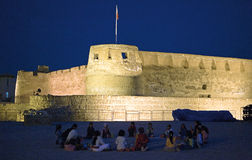Bahrain. Muharraq,  the islamic Arad Fort of the XV century Stock Images