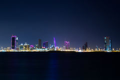 Bahrain nachts Stockfotografie