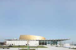 Bahrain National Theater, a view from west Royalty Free Stock Photos
