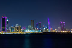 Bahrain at Night Royalty Free Stock Images