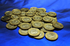 Bahrain prägt Währung 100 fils Stockfoto