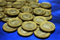 Bahrain prägt Währung 100 fils 3 Lizenzfreies Stockbild