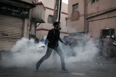 BAHRAIN-PROTEST-POLITICAL DETAINEE-PEOPLE Fotografia Stock