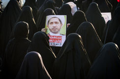 BAHRAIN-PROTEST-POLITICAL DETAINEE-PEOPLE Obraz Royalty Free
