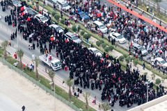 Bahrain protests and uprising March 2011 during arab spring Stock Image