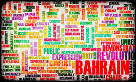 Bahrain Revolution. Protest and Uprising in the Middle East Stock Images