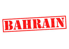 BAHRAIN. Rubber Stamp over a white background Stock Photography