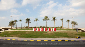 Bahrain sign in a roundabout Royalty Free Stock Photo