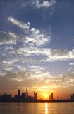 Bahrain skyline on beautiful clouds Stock Photo