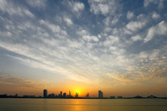 Bahrain Skyline and beautiful sky Royalty Free Stock Images
