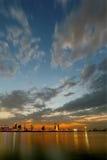 Bahrain skyline during blue hour, HDR Stock Photo