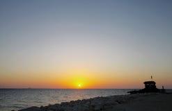 Bahrain skyline from Busaiteen beach, HDR photograph Royalty Free Stock Photos