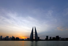Bahrain Skyline at dawn Royalty Free Stock Images