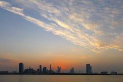 Bahrain Skyline and dramatic sky Royalty Free Stock Photos