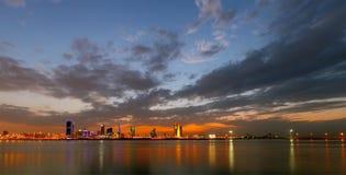 Bahrain skyline, HDR Stock Photos