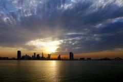 Bahrain skyline, HDR Stock Images