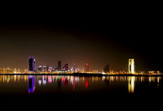 Bahrain skyline and reflection Royalty Free Stock Photos