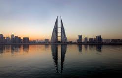 Bahrain Skyline during sunrise Stock Photo
