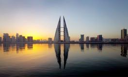 Bahrain Skyline during sunrise Royalty Free Stock Photos