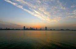 Bahrain Skyline during sunset Stock Photography