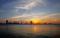 Bahrain skyline during sunset Stock Images