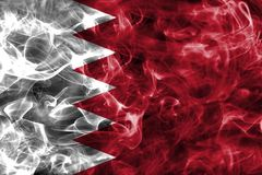Bahrain smoke flag. Isolated on a black background Royalty Free Stock Images