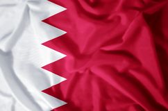 Bahrain. Stylish waving and closeup flag illustration. Perfect for background or texture purposes stock illustration
