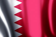 Bahrain. Stylish waving and closeup flag illustration. Perfect for background or texture purposes vector illustration