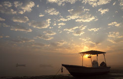 Bahrain sunrise Stock Images
