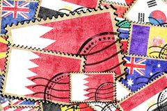 Bahrain vintage  postal stamp Royalty Free Stock Photo