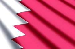 Bahrain. Waving and closeup flag illustration. Perfect for background or texture purposes royalty free illustration