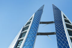 Bahrain World Trade Center facade, Manama Stock Photography