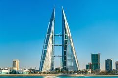 Bahrain-World Trade Center in Manama Der Mittlere Osten lizenzfreie stockbilder