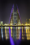 Bahrain world trade center royalty free stock photography