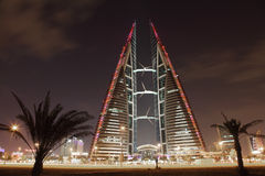 Bahrain World Trade Center Skyscraper Stock Images