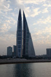 Bahrain World Trade Center Skyscrapers. In the city of Manama, Middle East Royalty Free Stock Photos
