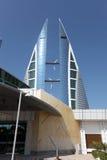 Bahrain World Trade Center Skyscrapers Stock Photo