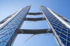 Bahrain World Trade Centerfasad bahrain manama Royaltyfri Bild