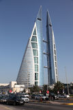 Bahrain World Trade Centerskyskrapa Arkivfoton