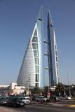 Bahrain World Trade Centerskyskrapa Arkivfoton