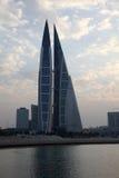 Bahrain World Trade Centerskyskrapor Royaltyfria Foton