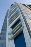 Bahrain World Trade Centre. At sunset in Manama royalty free stock images
