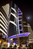 Bahrain World Trade Centre at Night, Bahrain Royalty Free Stock Photography